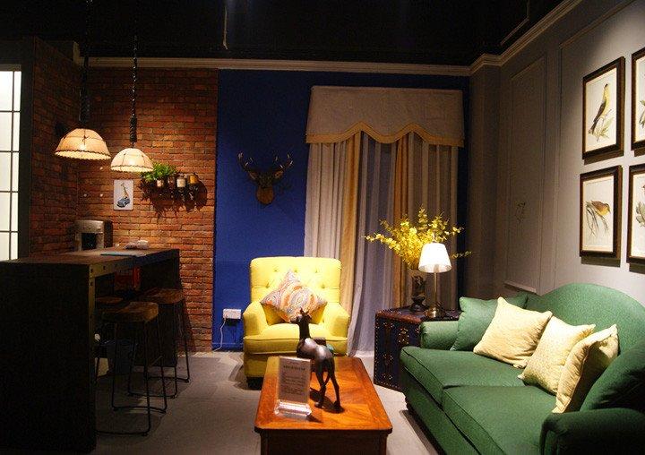 美国乡村风格的客厅模拟1