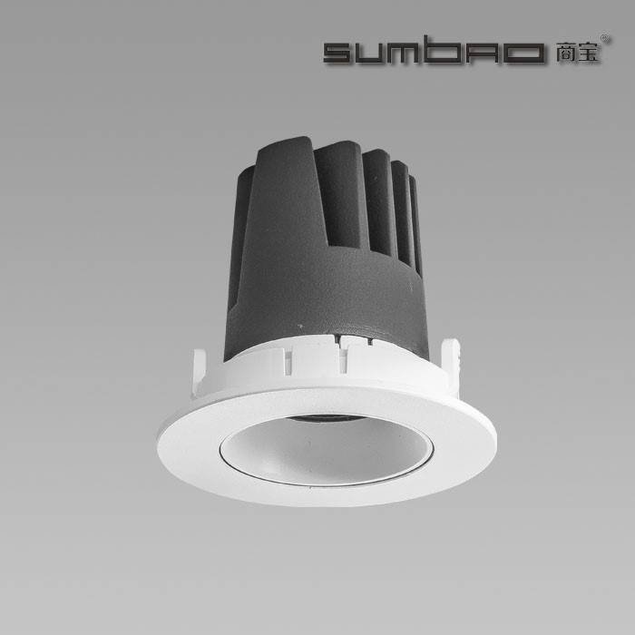 DW004-SUMBAO Professional Single Head Round Trim 10W Low Vottage Recessed Spotlights for Retail Shops, Residences Application