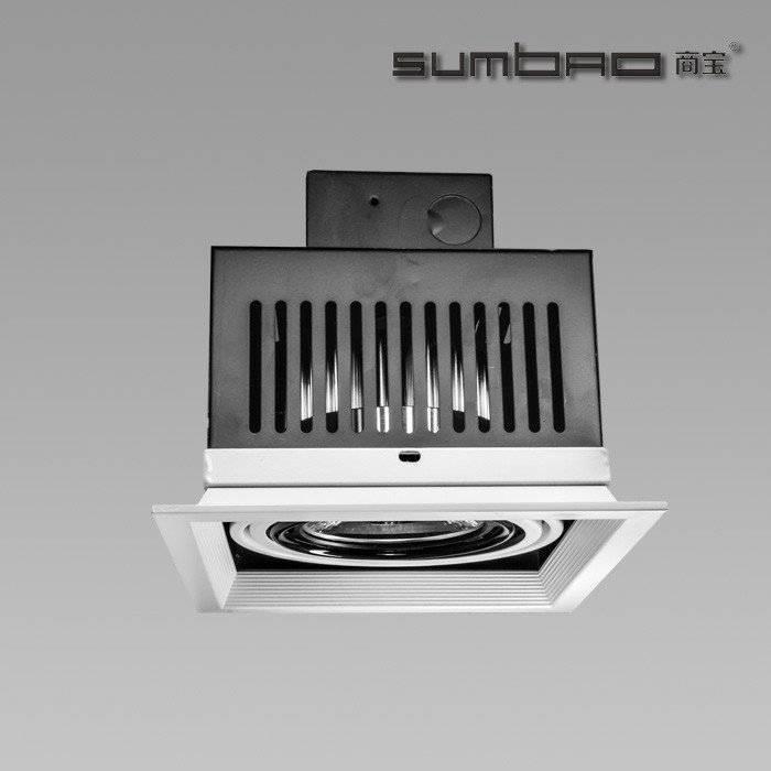 DW072-1 SUMBAO专业单头方形修边10W / 18W高端零售店的嵌入式射灯