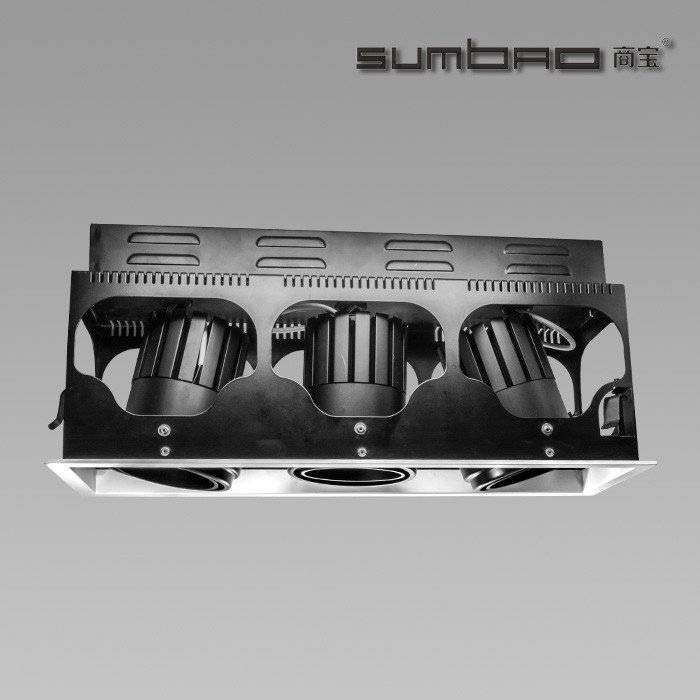 DW028-3  SUMBAO Multi-Head LED luminaires recessed spotlight are ideal for retail accent lighting