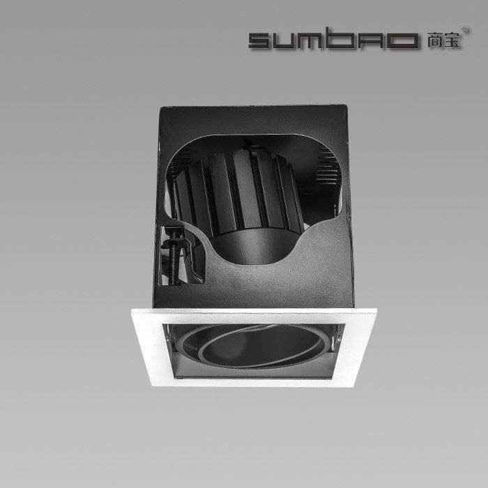 DW028-1SUMBAO单头LED灯具10W / 18W正方形装饰是零售重点照明的理想选择