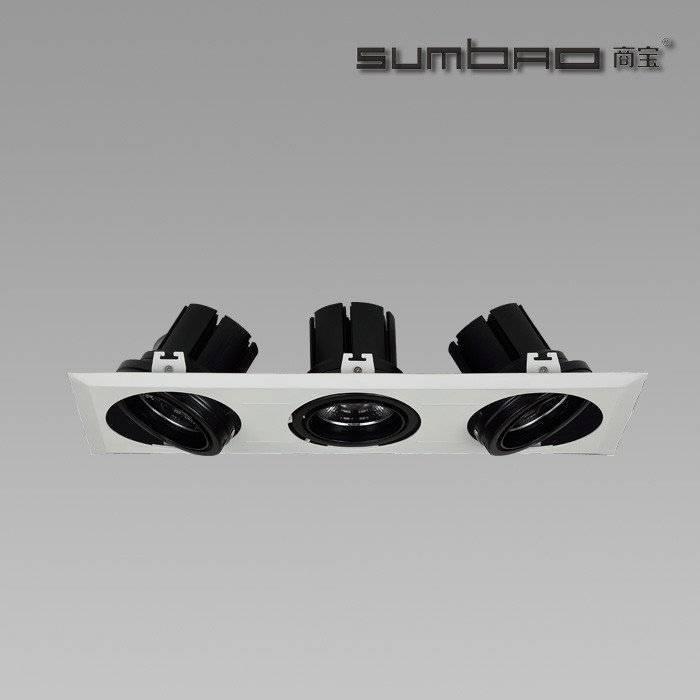DW019-3 SUMBAO多头LED灯具嵌入式射灯是零售重点照明的理想选择