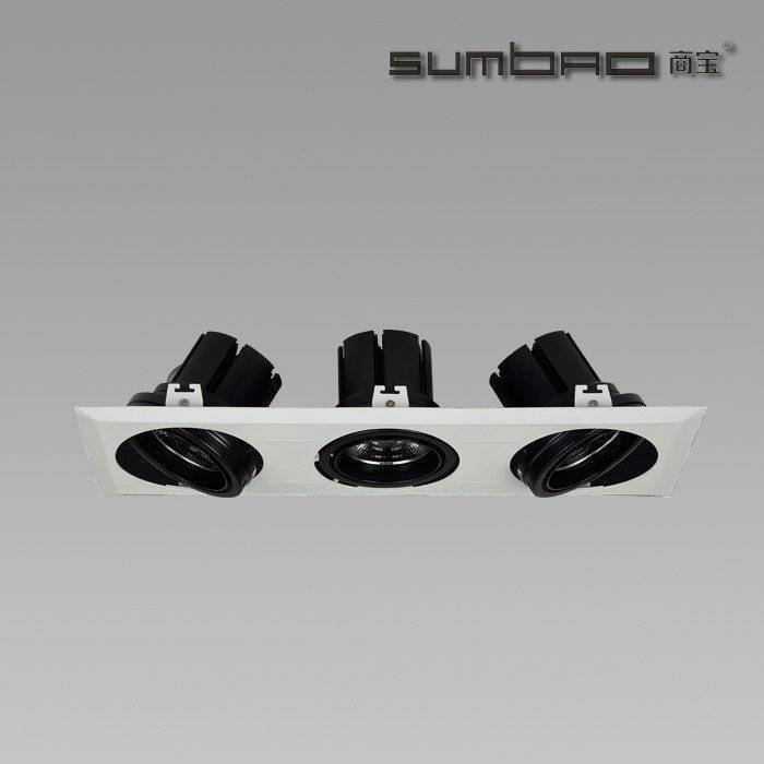 DW019-3 SUMBAO Multi-Head LED luminaires recessed spotlight are ideal for retail accent lighting