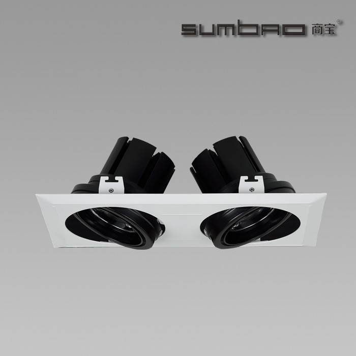 DW019-2 Cree LED Recessed Multiple Spots Lights for Grid Ceiling Applications