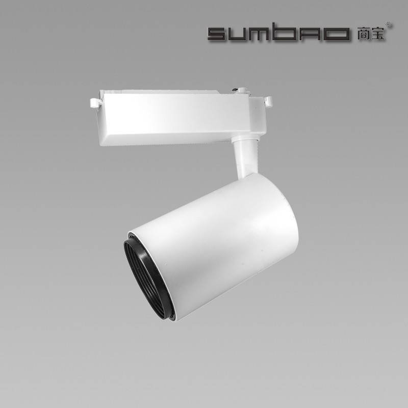 TK067 SUMBAO Lighting dimmable track spotlight for high end retail store accent lighting 18W/24W with wide range of beam angles
