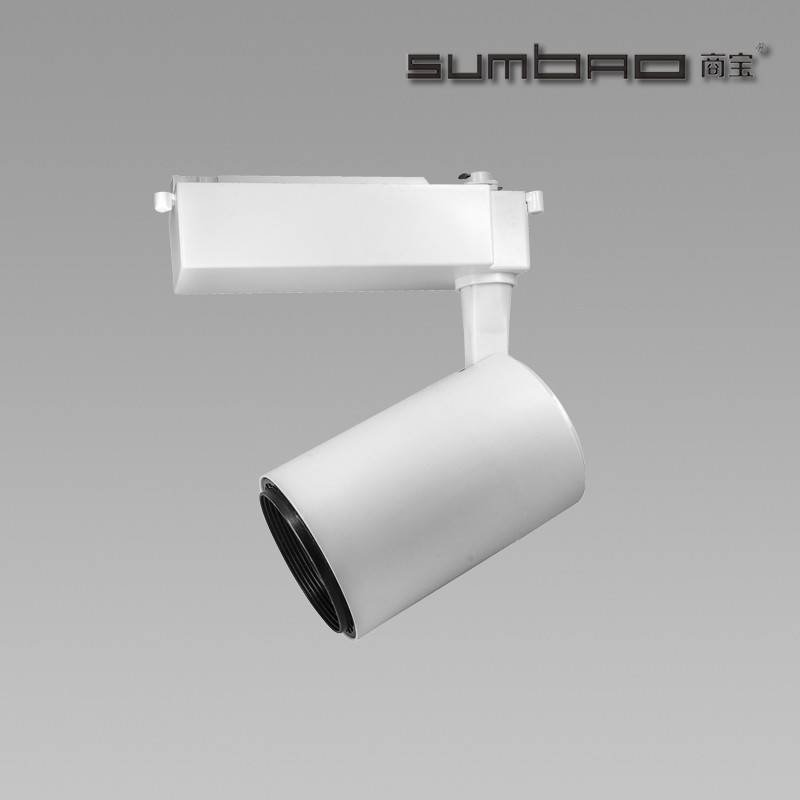 TK068 SUMBAO Lighting Dimmable Imported COB Chip Led 30W Track Light, High CRI High Efficiency Smart Appearance Showcase Track L