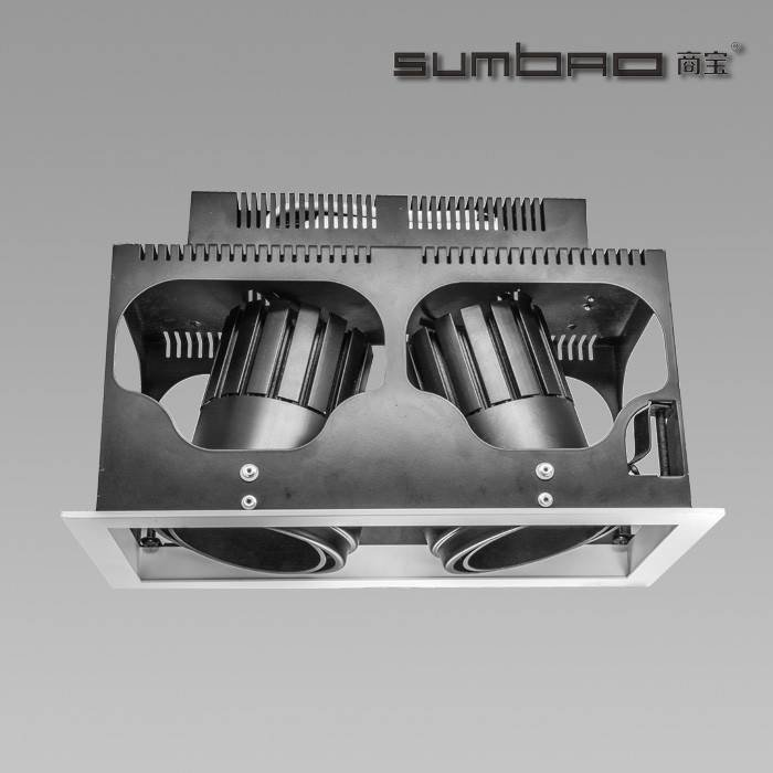 DW028-2 SUMBAO Multi-Head LED luminaires are ideal for retail accent lighting