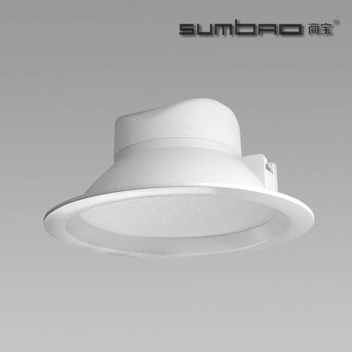 "FL017 SUMBAO照明6""进口COB芯片LED筒灯15W环境照明应用"