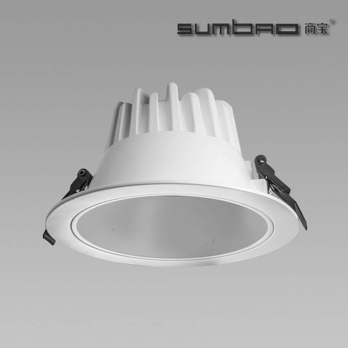 FL018 SUMBAO Lighting Imported COB Chip LED Downlight 24W for Ambient Lighting Application