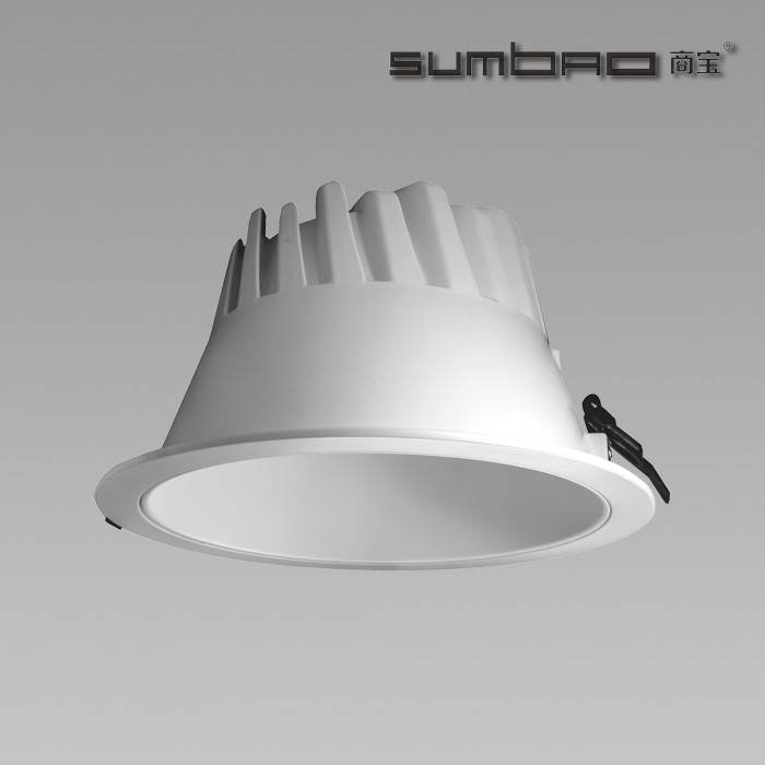 Fl019 Sumbao Lighting 100lm W Commercial Led Recessed Down Light 8 Inch Cob Chip