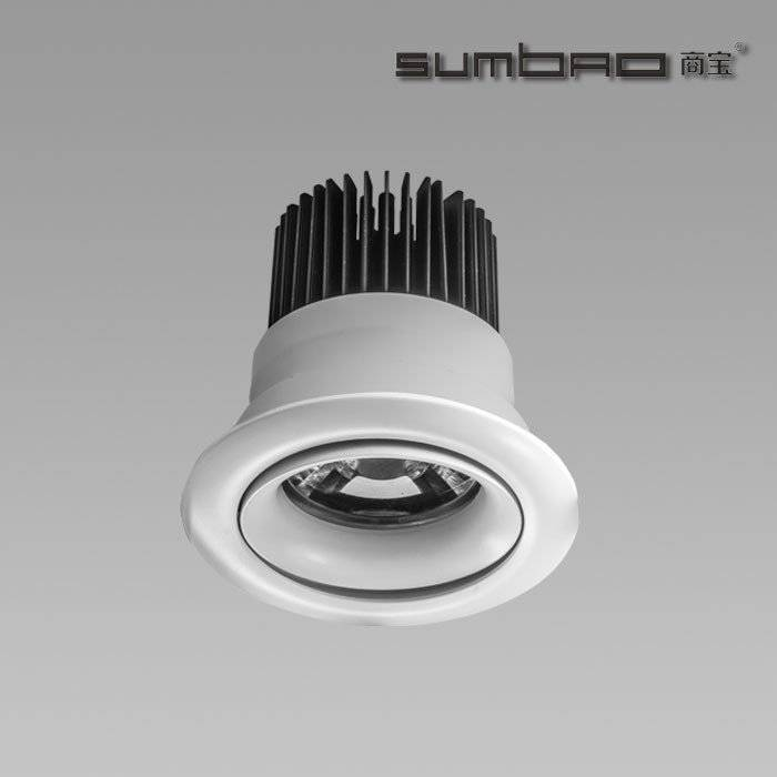 DW065 SUMBAO Professional Round Trim 18W  Recessed Spotlights for High End Retail Shops, Residences Application
