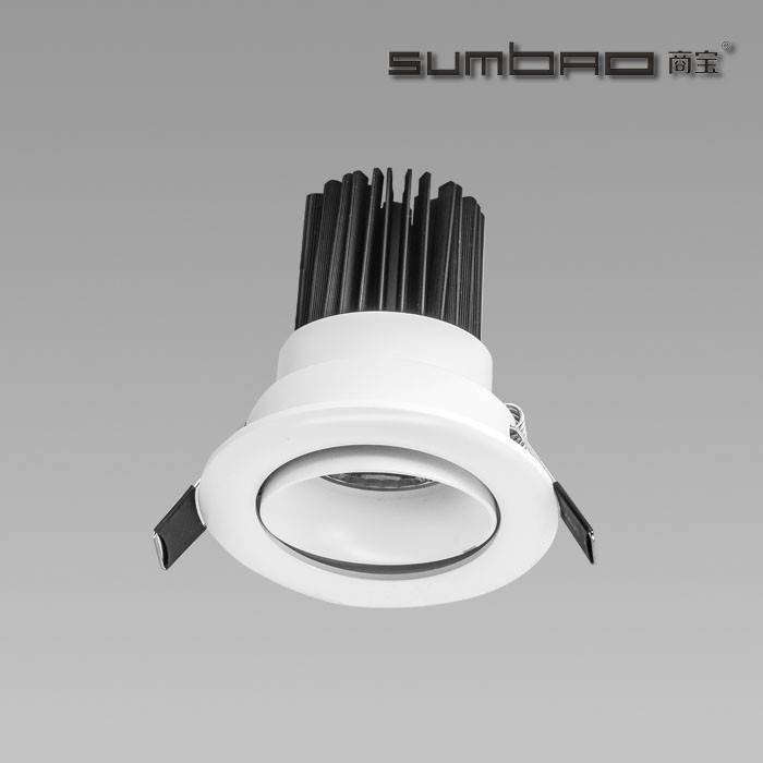 DW066 SUMBAO Professional Round Trim 10W Low Voltage Recessed Spotlights for High End Retail Shops, Residences Application