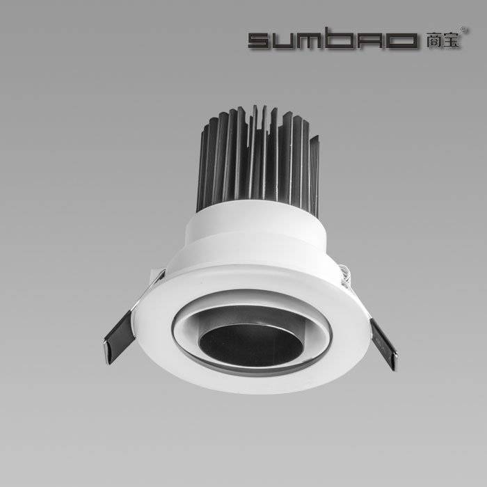 DW067 SUMBAO Professional Round Trim 10W Low Voltage Recessed Spotlights for High End Retail Shops, Residences Application