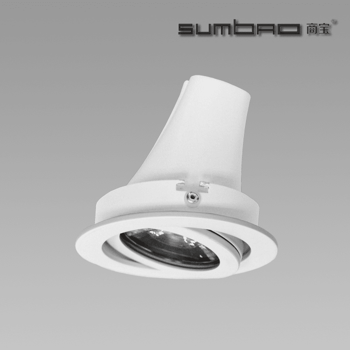 DW076 SUMBAO Professional  Round Trim 18W/24W Recessed Spotlights for High End Retail Shops, Residences Application