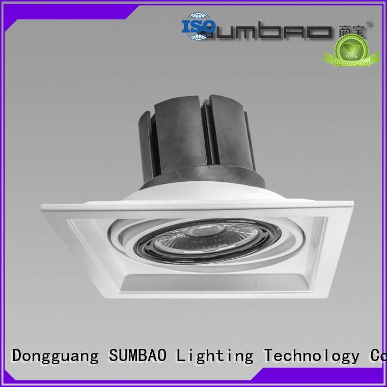 SUMBAO 3x10W 3x18W 24w-30w head 4 inch recessed lighting cree